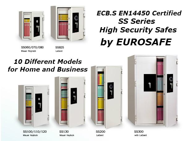 Eurosafe Yüksek Güvenlikli, Anahtarlı Çelik Kasalar ( Security Safe)